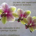 Condoléances message