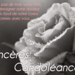 Condoleances a un collegue