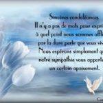 Texte condoleance pere