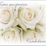 Modele de carte condoleance