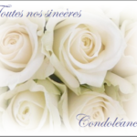 Carte sincere condoleance