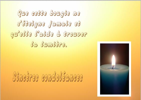 Condoléances message type   Modèle de lettre