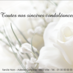 Condoléances exemples