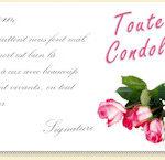 Carte condoleances modele