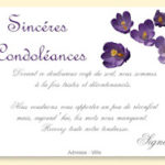 Exemple carte de condoléances