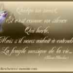 Message deuil