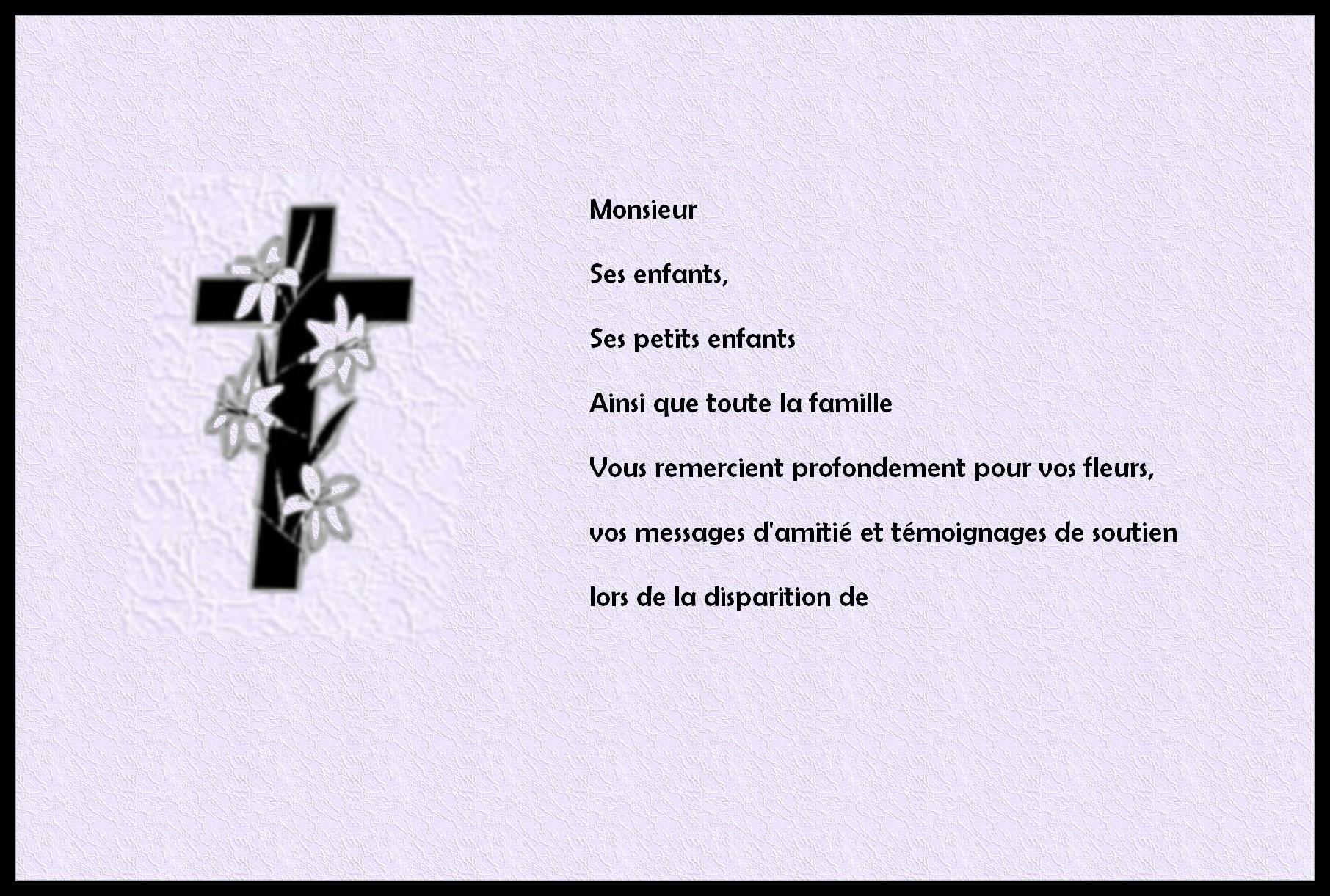 Petit message de condoléances   Modèle de lettre
