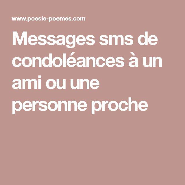 condol u00e9ances message a une amie