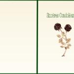 Carte de condoléances à imprimer