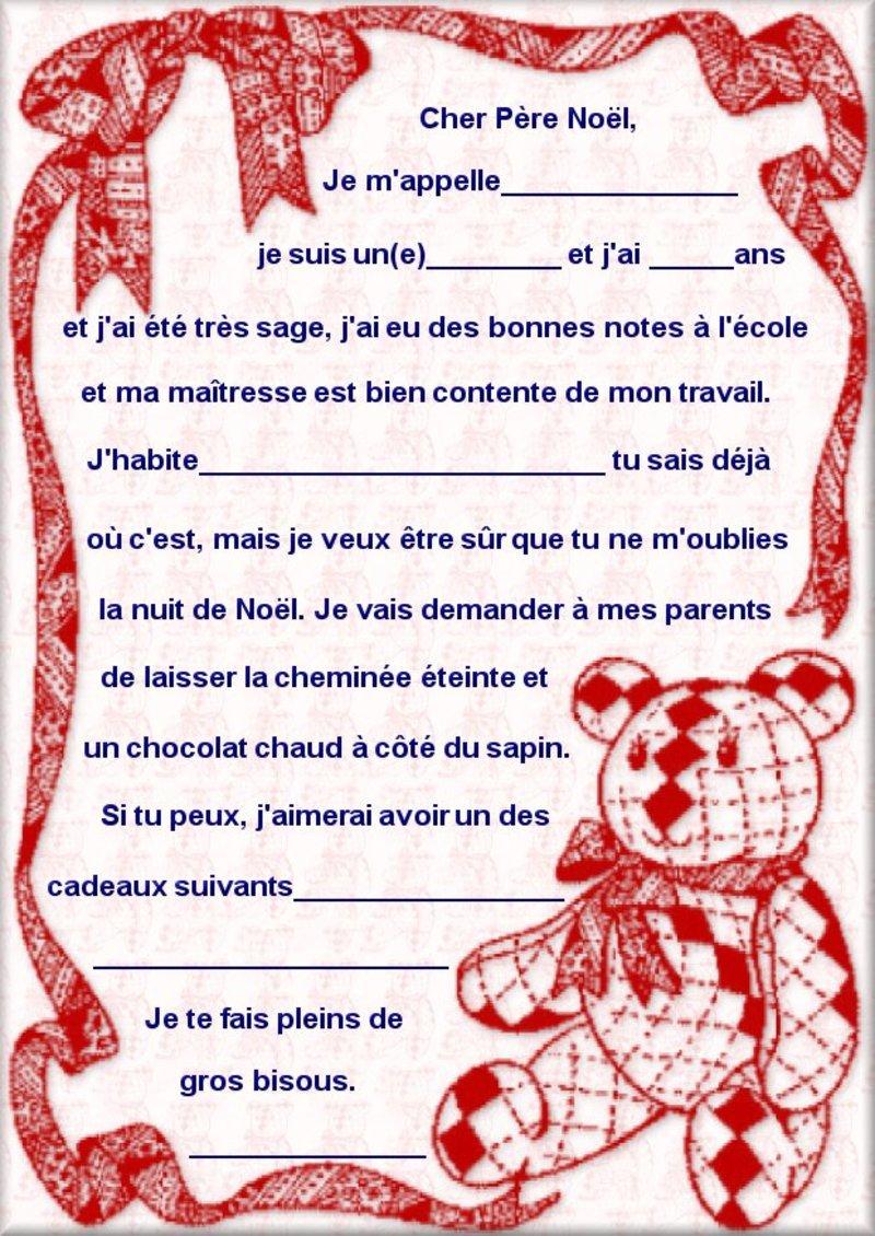 modele de lettre noel Exemple De Lettre Au Pere Noel | passieophetplatteland modele de lettre noel