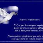 Mot de condoléances pour un collègue