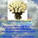 Condoleance a une amie