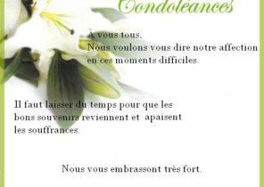 Condoléances message a un collegue - Modèle de lettre