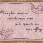 Message de condol2ances