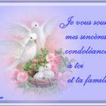 Condoléances famille