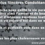 Message pour souhaiter condoléances