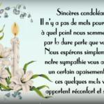 Texte pour condoléances