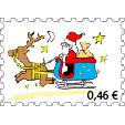 Lettre pere noel timbre